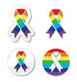 picture of gay symbol  - Ribbons set  - JPG