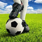 picture of football pitch  - Soccer player - JPG