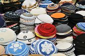 picture of tora  - close up of Yarmulkes  - JPG