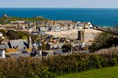 picture of st ives  - St Ives on the Cornish coast of England - JPG