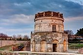 image of porphyry  - The mausoleum of Theodoric is an ancient monument of Ravenna Italy - JPG