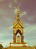 picture of kensington  - Vintage look Albert Memorial in Kensington gardens London UK - JPG
