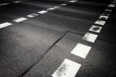 picture of pedestrian crossing  - Close up of pedestrian crossing on asphalt - JPG