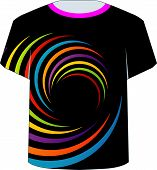 T Shirt Template- fractal rings