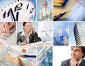 pic of business meetings  - Collage of 12 business related images  - JPG