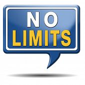 stock photo of restriction  - no limits or boundaries unlimited and without restrictions icon or sign - JPG
