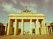 Retro Looking Brandenburger Tor, Berlin