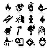 stock photo of ax  - Firefighting icons - JPG