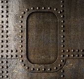 picture of steam  - Metal background with rivets - JPG