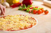 pic of italian parsley  - Italian pizza preparation - JPG