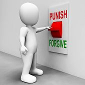 stock photo of punishment  - Punish Forgive Switch Showing Punishment or Forgiveness - JPG