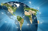 foto of electronic commerce  - world Map - JPG