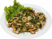 Vegetarian Food With Mushrooms