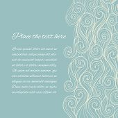 image of dainty  - Vector Abstract Blue Sea Wave background with copyspace - JPG
