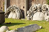 image of louvers  - Ruins of Sforzesco castle in Milan  - JPG