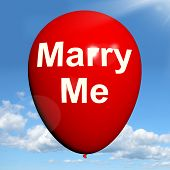 Marry Me Balloon Represents Lovers Proposed Engagement