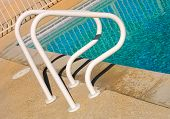 Image of a common Poll Ladder By the pool
