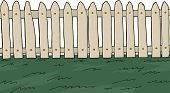 Picket Fence Over White