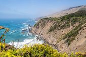 stock photo of mendocino  - View of the Pacific Ocean on the Mendocino Coastline from highway 1  - JPG