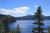 pic of pacific rim  - Crater Lake Oregon seen from the rim from one of the many trails around the caldera.