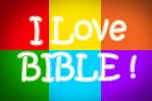 image of adam eve  - I Love Bible Concept text on background - JPG