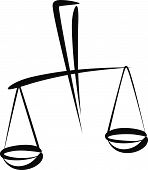 pic of libra  - Simple vector illustration of a libra - JPG