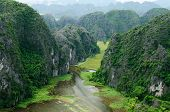 Tam Coc - Bích Dong Is A Popular Tourist Destination Near The City Of Ninh Bình In Northern Vietnam. poster