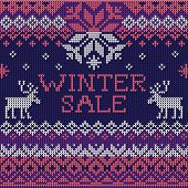 stock photo of scandinavian  - Vector Illustration of Winter sale - JPG