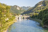 stock photo of hydroelectric  - Hydroelectric power station in the river Enns in Upper Austria  - JPG