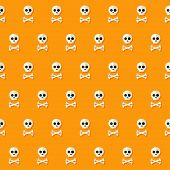 picture of skull cross bones  - Illustration of Seamless Halloween Skull Pattern with Bones - JPG