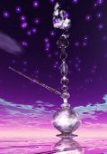 pic of shisha  - Digital 3D Illustration of a Shisha with Smoke - JPG