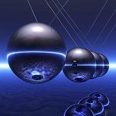 stock photo of newton  - Digital 3D Illustration of a Newton Pendulum - JPG