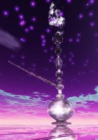 image of shisha  - Digital 3D Illustration of a Shisha with Smoke - JPG