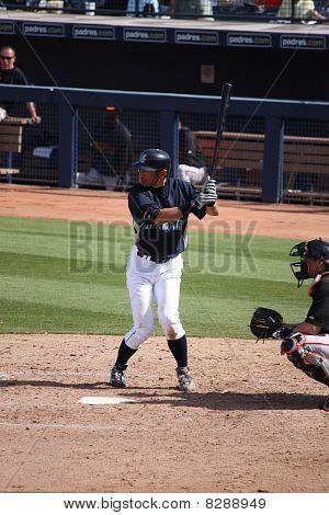 Ichiro Suzuki Awaiting Pitch