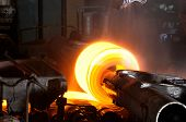 picture of manufacturing  - Steel sheet manufacturing at steel industrial plant - JPG