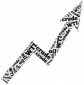 foto of crude  - WTI crude oil commodity price growth - JPG