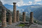picture of oracle  - Temple of Apollo at Delphi oracle in Greece - JPG