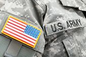 picture of army  - USA flag and U - JPG