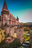 stock photo of castle  - Hunyad Castle - JPG