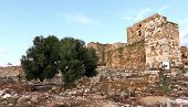 foto of crusader  - The remains of the old Byblos Crusader fortress - JPG