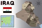 stock photo of iraq  - Illustration of a Map - JPG