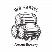 picture of keg  - Logo design with wooden beer barrels for pab - JPG