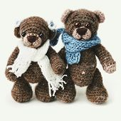 stock photo of teddy  - Teddy bears family in classic vintage style on white background - JPG