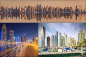 picture of dubai  - Collage of the beauty panorama at Dubai marina - JPG