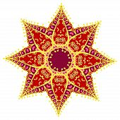 stock photo of holi  - Hand drawing zentangle color element - JPG