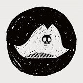 picture of pirate hat  - Pirate Hat Doodle - JPG