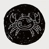 image of cancer horoscope icon  - Cancer Constellation Doodle - JPG