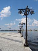 foto of dnepropetrovsk  - Bay river Dnepr in Dnepropetrovsk - JPG