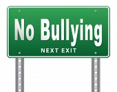 Bully free zone, Stop bullying at school or at work stopping or online. 3D illustration, isolated, o poster