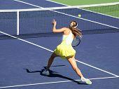 Постер, плакат: Женщина теннис